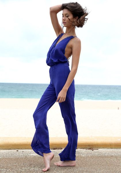 Pleated Surplice Jumpsuit in Royal Blue. Just perfect for my upcoming vacation! :)