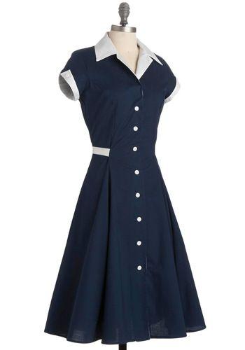 Baba-blue Dress: Baba Blue Dress, Style, Librarian Dress, Retro Vintage Dresses, Mod Retro, Modcloth Com, Baby Shower