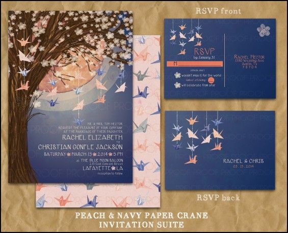 Paper Crane Wedding Invitations