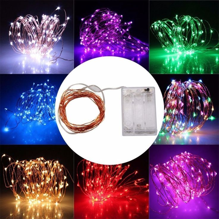 String Fairy Light 20/30/40 LED Battery Operated Xmas Lights Party Wedding Decor #Unbranded