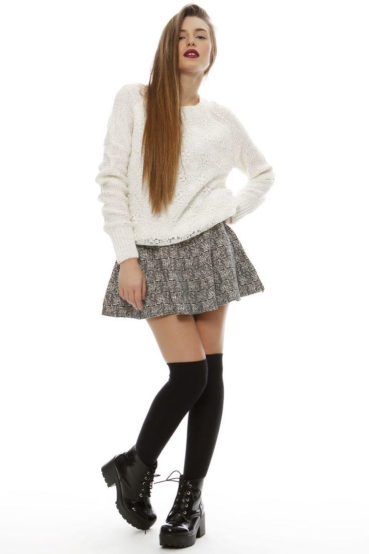 Knit Skater Φούστα - ΡΟΥΧΑ -> Shorts & φούστες | Made of Grace