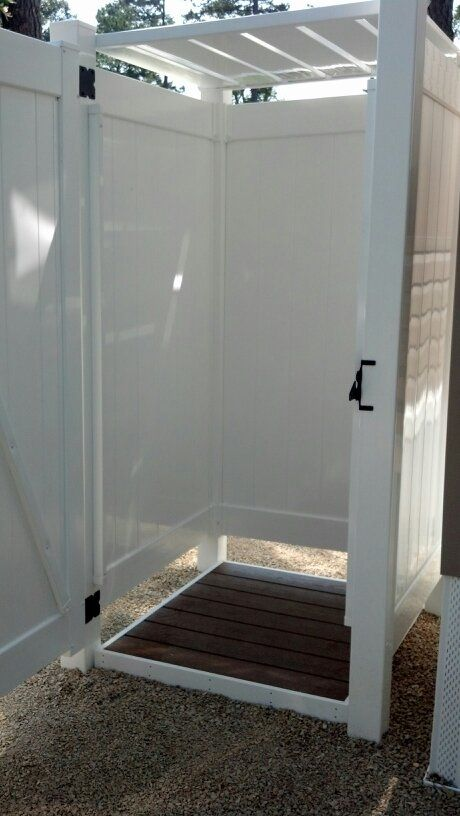 Photo Gallery of Park Model Outdoor Shower Enclosures for Outside Showers | Liquid Sunshine Outdoor Products