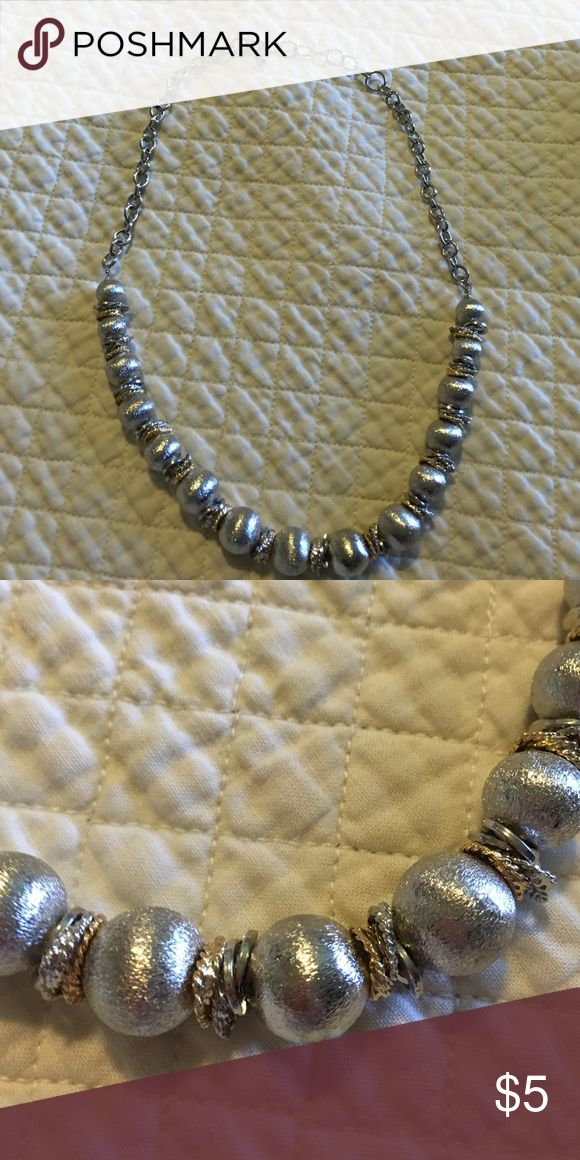 22 inch silver with gold accent necklace Never worn! Silver necklace with silver beads and gold accents between the beads. Very classy Jewelry Necklaces