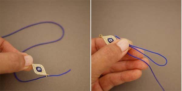Cómo hacer nudos corredizos para pulseras paso a paso