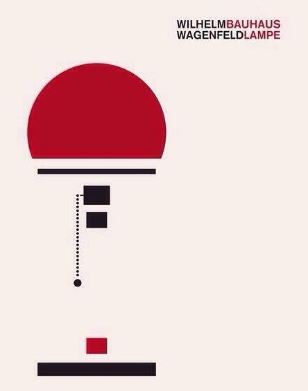 Wilhelm Wagenfeld Bauhaus Lampe #Design #Illustration #
