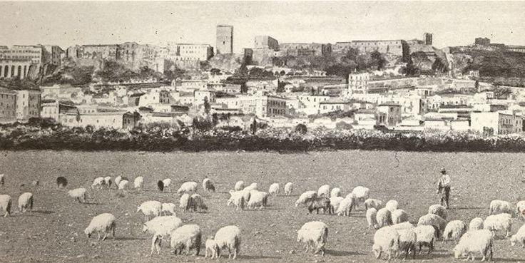 1939: una rarissima foto di Cagliari 77 anni fa. L'area attuale dove si trova via Dante, nel quartiere dove ora sorge il Mercato di San Benedetto