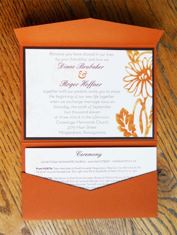 Fall Wedding Invitation Package By Alison Schoenberger Via Behance