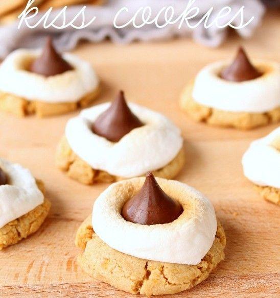 S'mores Hershey's Kiss Cookies Recipe