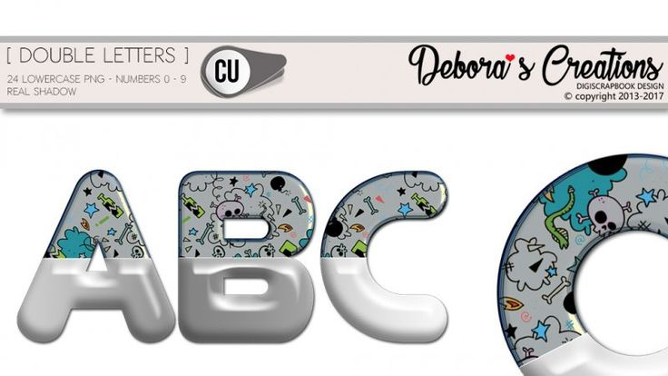 Double Letters by Debora's Creations CU