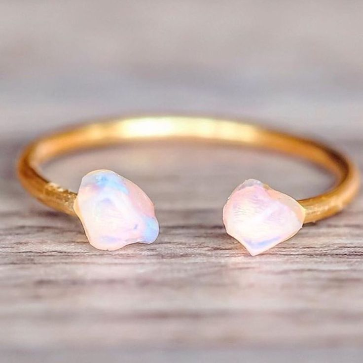 NEW || Gold Little Raw Opal Ring || Also comes in Rose Gold and Sterling Silver || Available in our 'NEW' Collection at www.indieandharper.com
