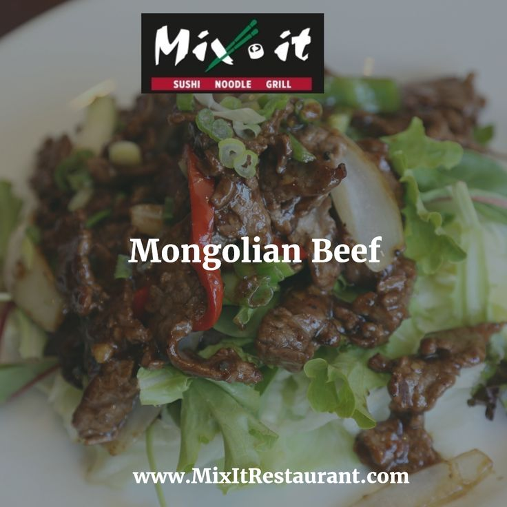The Mongolian #Beef is one of Mix It's most popular dishes. The meat is stir fried in a wok and cooked with #onions, bell peppers and #scallions. The #Mongolian sauce is light but packed with flavor. Get 10% Off #delivery orders with Promo Code: spring2017 Order Online @ www.mixitrestaurant.com