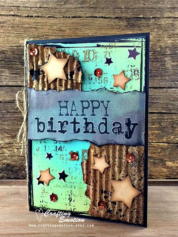 Handmade Birthday Card by Crafting Emotion $12.50AUD