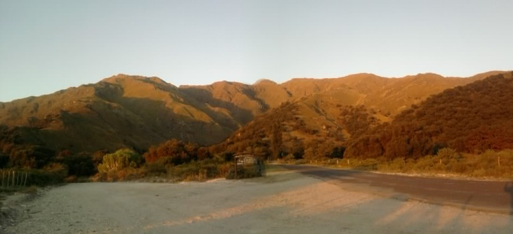Atardecer en Sierra de los Comechingones. Merlo, San Luis. Argentina