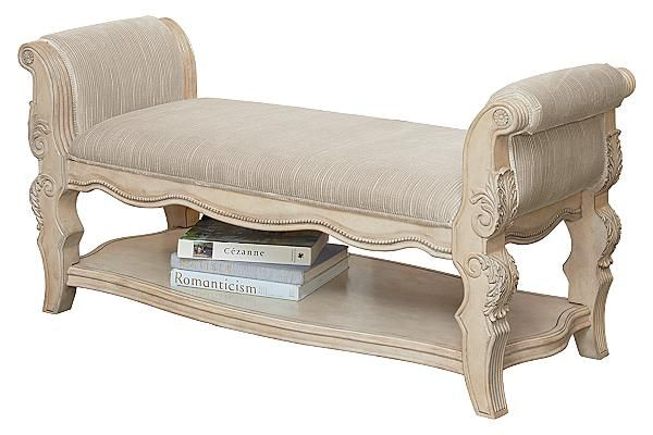 The Ortanique Upholstered Bench From Ashley Furniture HomeStore (AFHS.com).  The Exquisite