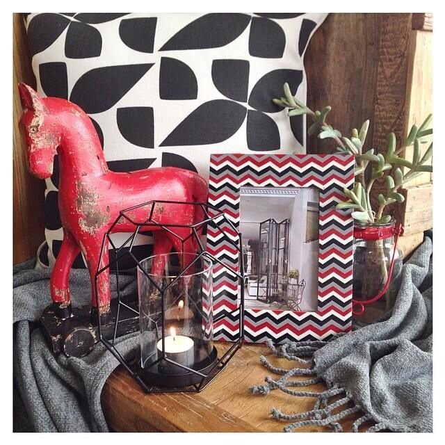 Incorporating red & black into your home can create a dramatic yet sophisticated look #homethyme