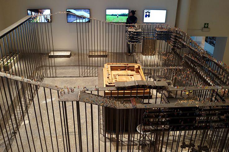 liu jiakun assembles model of vast chengdu development at the venice architecture biennale