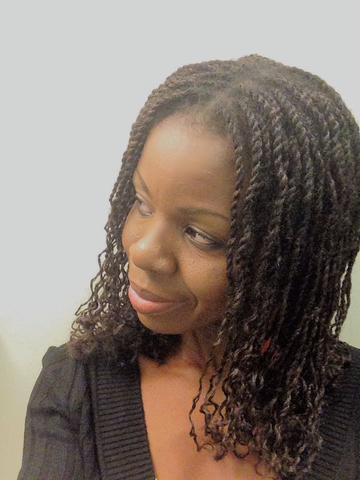 Curly Mini Marley Twists Protective Styles Pinterest