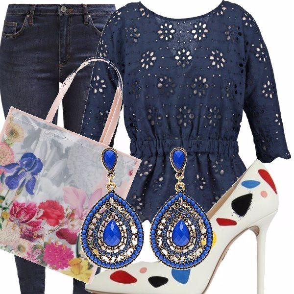 Il jeans si adatta a tutte le occasioni: indossato su una camicetta traforata, con un paio di scarpe colorate e spiritose, una borsa da shopping e un paio di orecchini va benissimo sia per una passeggiata che per l'ufficio.