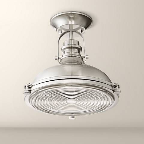Verndale 11 3 4 Quot W Brushed Nickel Industrial Ceiling Light