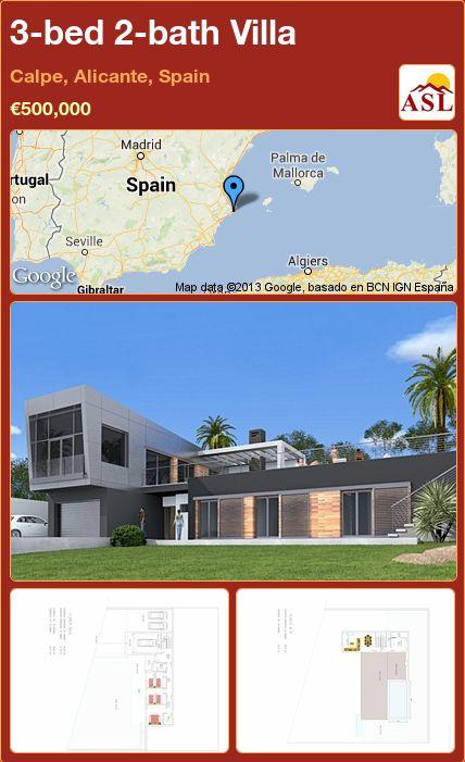3-bed 2-bath Villa in Calpe, Alicante, Spain ►€500,000 #PropertyForSaleInSpain