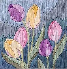 Tulips 'Silken' Long Stitch Kit  SLS13