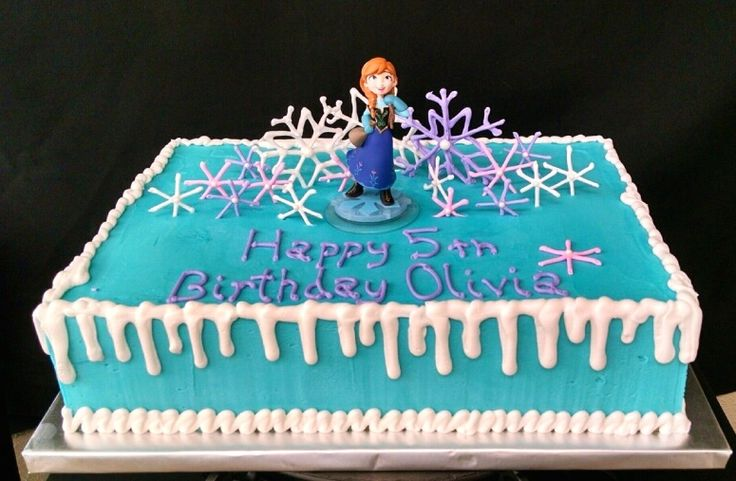 Frozen Themed Sheet Cake #daddycakesbakery #fortcollinsbakery