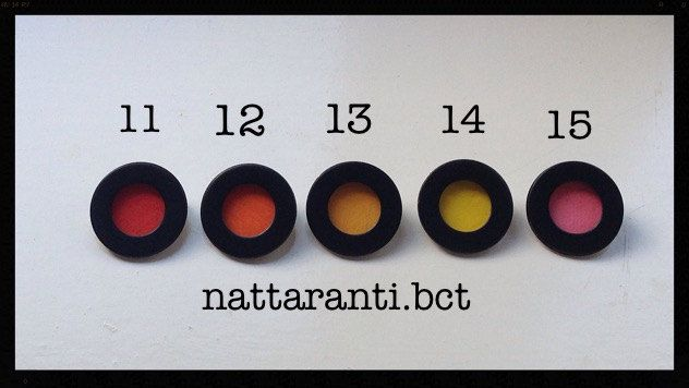 any colour pind badges wedding guest brooch brooches colorful handmade painted red blue white and many more by nattaranti on Etsy