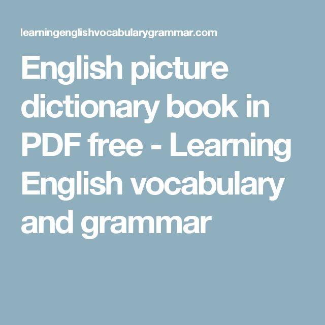 ... Learning English vocabulary and grammar | School EFL/ESL | Pinterest