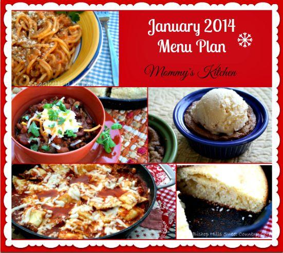 Mommy's Kitchen: January 2014 Dinner Menu - Menu Plan Monthly