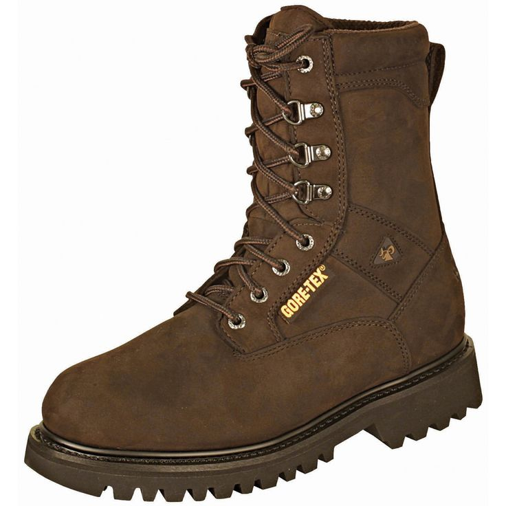 Rocky Mens Brown Leather Ranger Steel Toe Goretex Insulated Hiking Boots