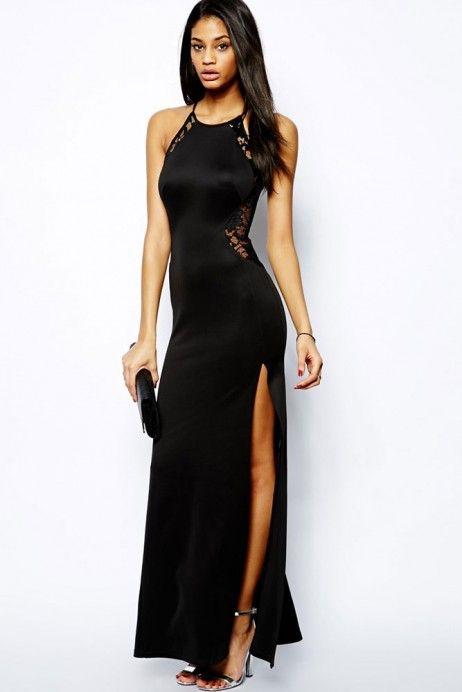 Rochie de seara lunga,  uimitoare, ce dispune de un aspect simplist, reusind sa iti puna in evidenta silueta de invidiat.