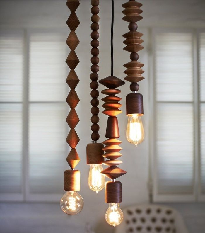 Amazing wood turned Bright Beads pendant lights by Marz Design Australia. Love the idea of creating something similar with beads & 30 best Valoa ja vaneria - wood and lightning images on Pinterest ... azcodes.com