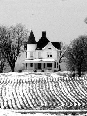 let's start with a white farmhouse.