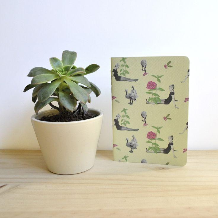 Libreta / Notebook Gansos A6 by Tijeras y Poemas (Ana Lorente).  #collage #notebook #tijerasypoemas #patterncollage
