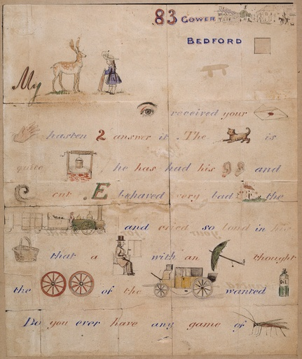 illustrated letter by J E Millais to the Lemprière family.
