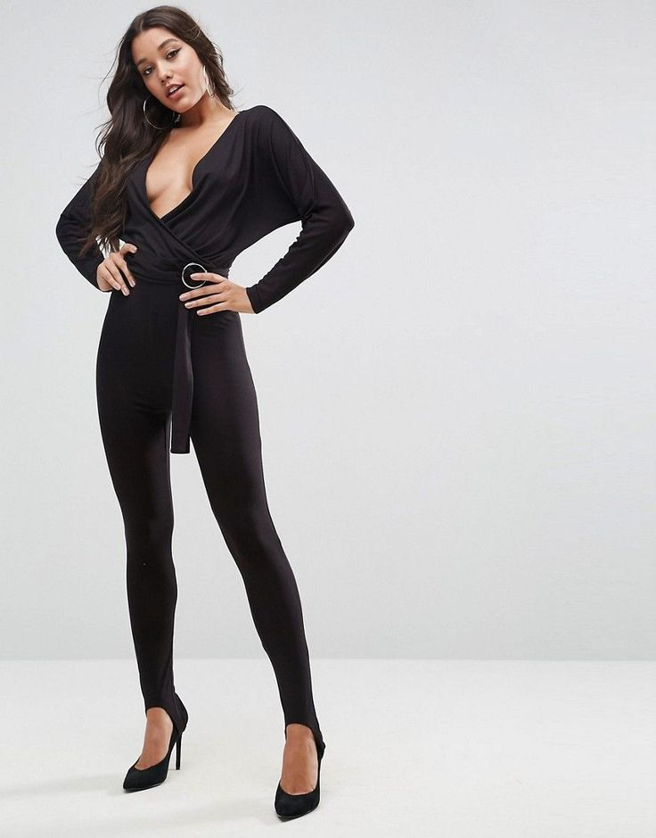 ASOS Jersey Jumpsuit with Batwing Sleeve and Super Skinny Stirrup Pant