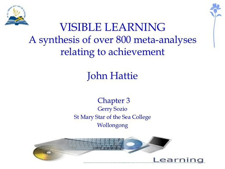 visible-learning by St Mary Star of the Sea College via Slideshare  Hattie