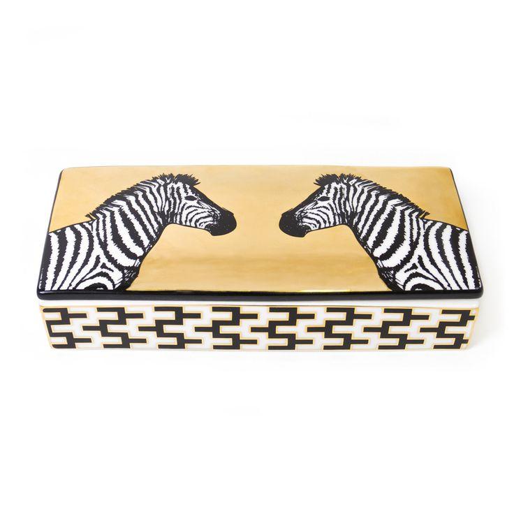 Animalia Zebra Decorative Box - Jonathan Adler