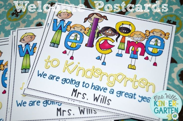 Welcome to My Class Postcard FREEBIE - Mrs. Wills Kindergarten
