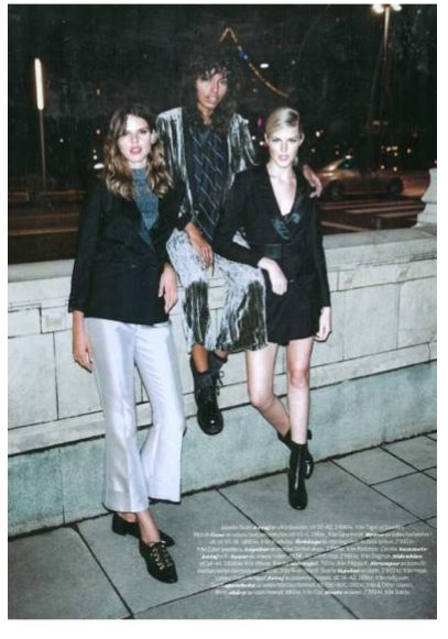 Hope AW15 - Wearing Macy Bootin with a dress for a feminime look in Damernas Värld magazine http://hope-sthlm.com/macy-bootin-black