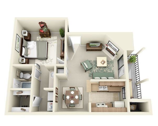 One Bedroom Apartment Homes In Killeen Texas Sims House Design Apartment Floor Plan Floor Plan Design