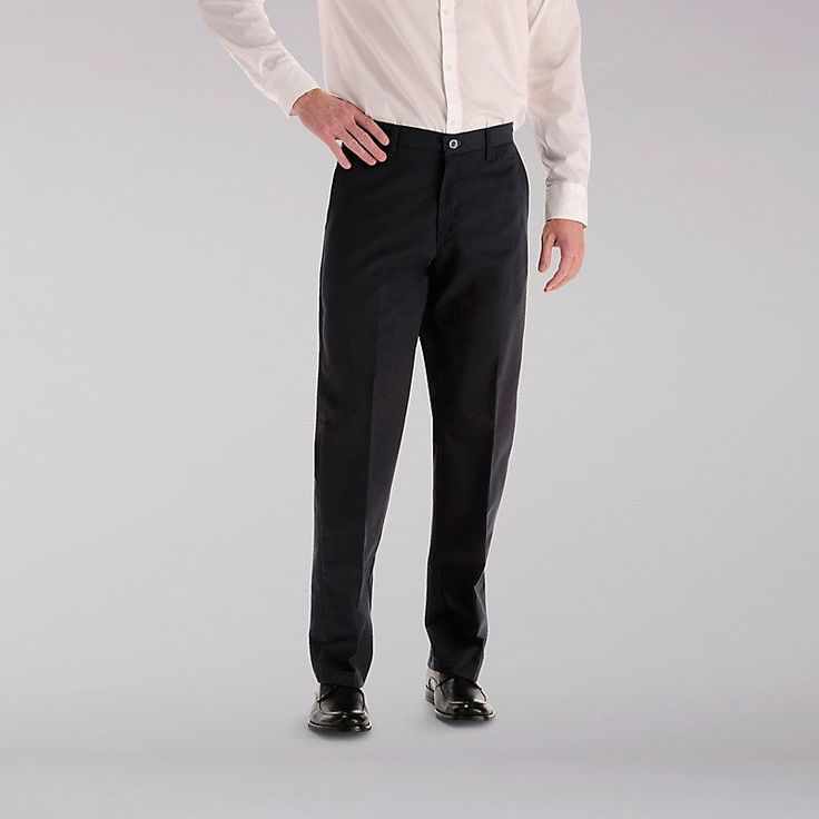 Lee Men's Total Freedom Flat Front Pants (Size 42 x 32)