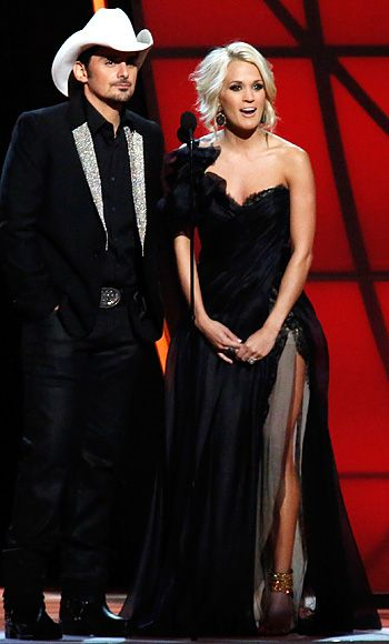 Carrie Underwood and Brad Paisley at the CMA's