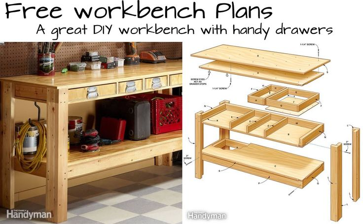 25 best ideas about Workbench with drawers on Pinterest