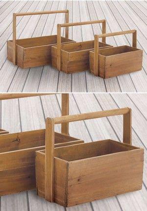 Wooden Baskets, Wooden Planters, Basket Planters