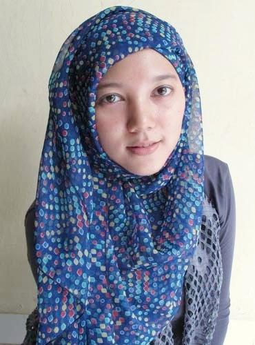 Hijab   Polka Shawl in Navy   www.jiilaanhijabs.com