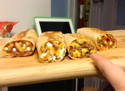 Homemade Taco Bell Loaded Grillers (for about half the calories) - HeLLthy Junk Food