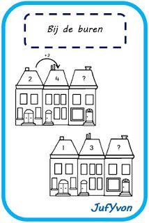 In stapjes van 2 maken de kinderen dit werkblad! Op welk nummer wonen de buren bij het vraagteken? Download het werkblad hieronder. Kli...