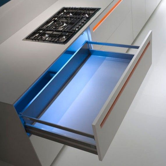 Lumilum Blue Led Strip Light In The Drawer