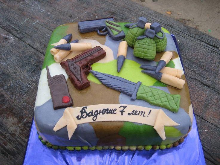 """""""Оружие"""" #торт_на_заказ_харьков #военные #бисквитный_торт"""